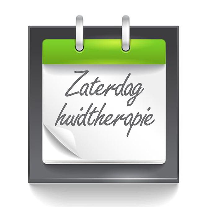 zaterdag huidtherapie